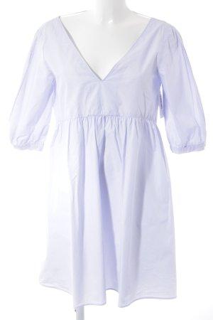 Zara Basic Robe chemisier violet style romantique
