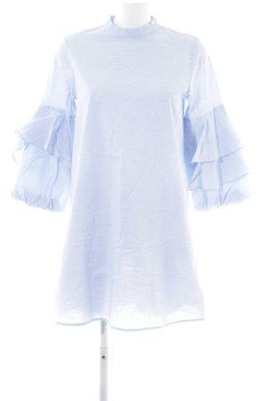 Zara Basic Blusenkleid himmelblau Casual-Look