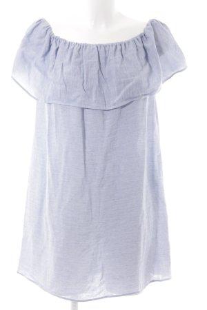 Zara Basic Blusenkleid himmelblau-weiß Streifenmuster Beach-Look