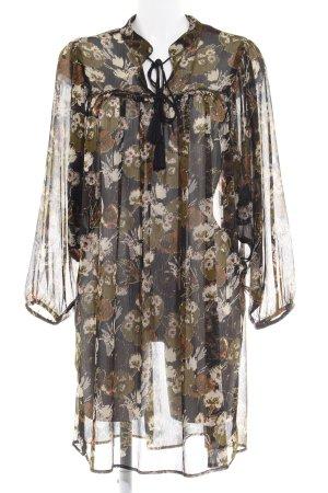 Zara Basic Blusenkleid mehrfarbig Beach-Look