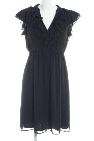 Zara Basic Blusenkleid schwarz Beach-Look