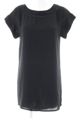 Zara Basic Blousejurk zwart casual uitstraling