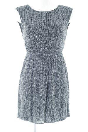 Zara Basic Blusenkleid schwarz Punktemuster Casual-Look