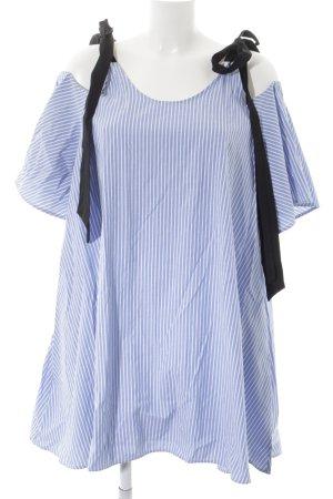 Zara Basic Blusenkleid Streifenmuster Boho-Look