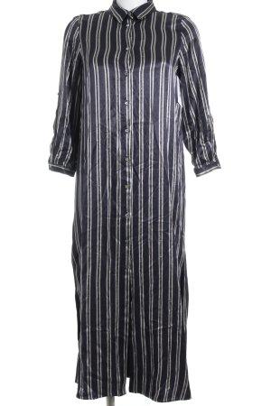 Zara Basic Blusenkleid Streifenmuster Glanz-Optik
