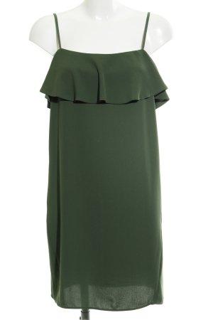 Zara Basic Blusenkleid waldgrün Elegant