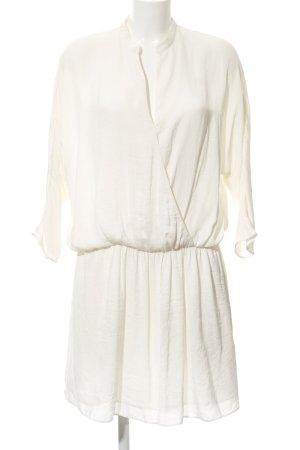 Zara Basic Blusenkleid wollweiß-hellgelb Elegant