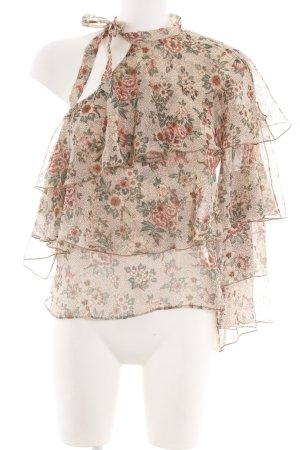 Zara Basic Blusenkragen Blumenmuster Casual-Look