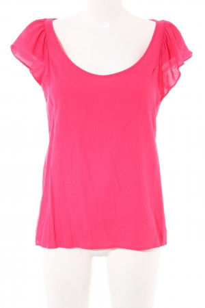 Zara Basic Blouse topje roze casual uitstraling