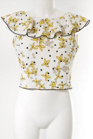 Zara Basic Blusentop abstraktes Muster Elegant
