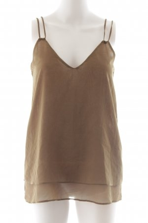 Zara Basic Blouse Top bronze-colored casual look