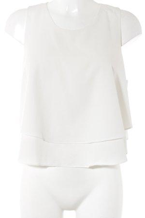 Zara Basic Blusentop creme Romantik-Look