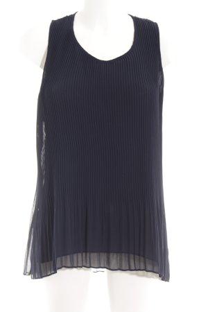 Zara Basic Blusentop dunkelblau Business-Look