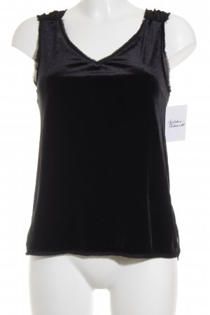 Zara Basic Blusentop schwarz Party-Look
