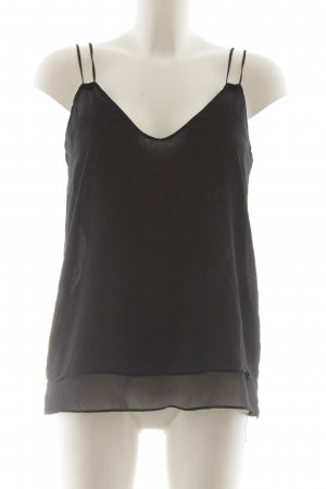 Zara Basic Blouse Top black simple style