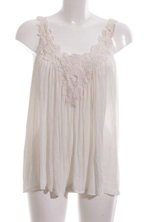 Zara Basic Camisa de mujer blanco puro look casual