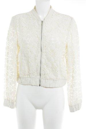 Zara Basic Bomberjacke creme Casual-Look