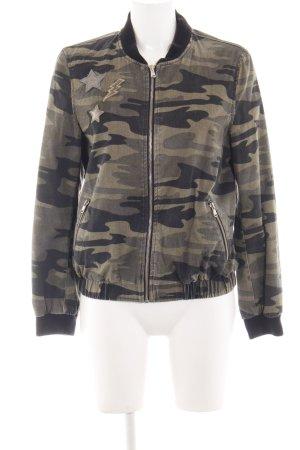 Zara Basic Bomber Jacket khaki-black allover print casual look