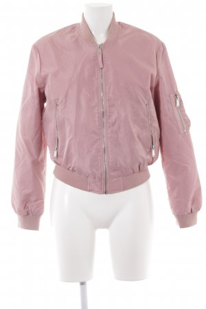 Zara Basic Bomberjack roze casual uitstraling