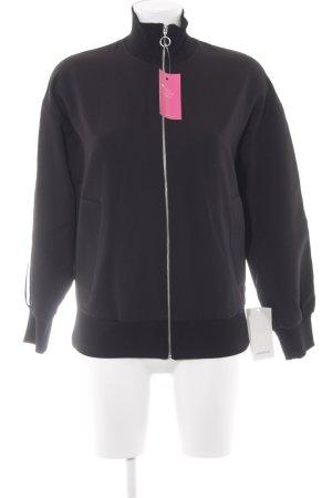 Zara Basic Bomberjacke schwarz-blassgelb sportlicher Stil