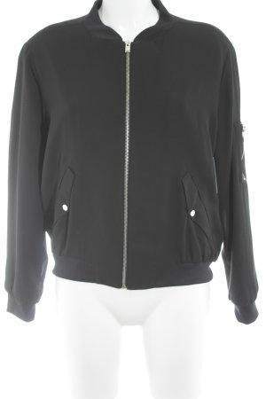 Zara Basic Blouson aviateur noir style décontracté