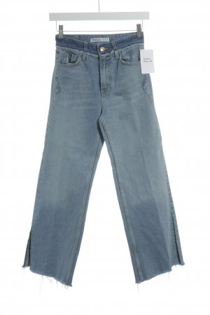 Zara Basic Boot Cut Jeans kornblumenblau Street-Fashion-Look