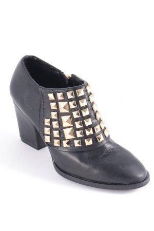 Zara Basic Booties schwarz Rockabilly-Look
