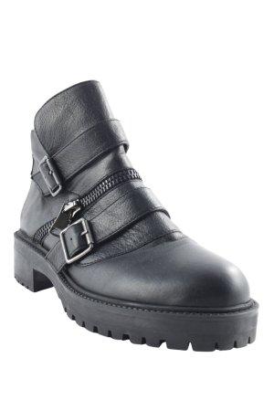 Zara Basic Boots schwarz Biker-Look