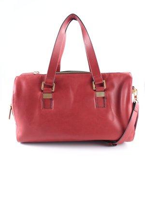 Zara Basic Bowlingtasche dunkelrot Casual-Look