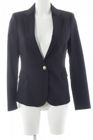Zara Basic Boyfriend Blazer dark blue-gold-colored Metal buttons