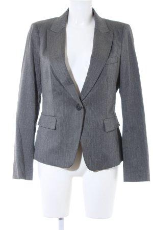 Zara Basic Boyfriend-Blazer grau-hellgrau Nadelstreifen Business-Look