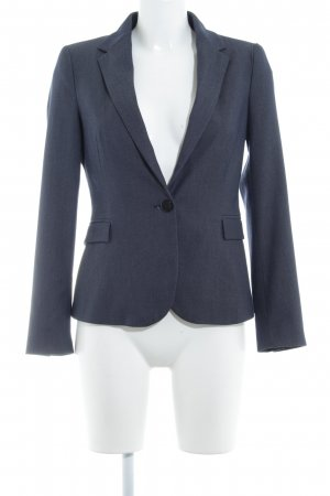 Zara Basic Boyfriend Blazer slate-gray-dark blue business style