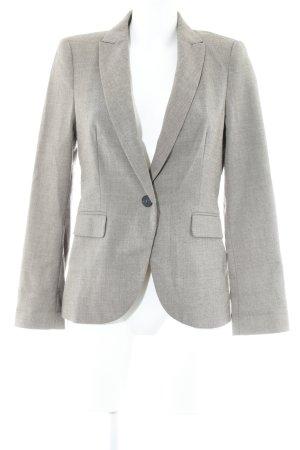 Zara Basic Blazer boyfriend gris brun motif à chevrons style anglais
