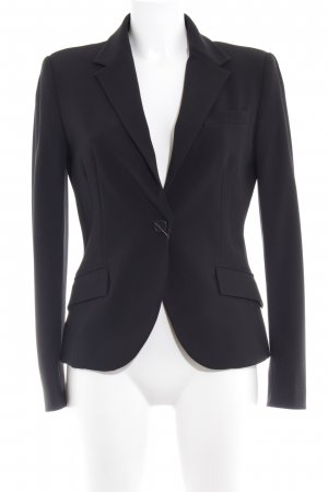 Zara Basic Boyfriend-Blazer schwarz Business-Look