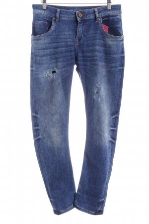 Zara Basic Boyfriendjeans blau Casual-Look