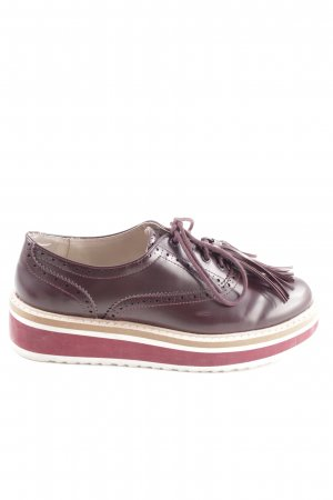 Zara Basic Wingtip Shoes graphic pattern casual look