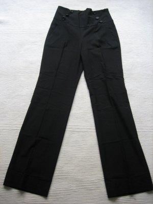 zara basic buero hose elegant schwarz gr. s 36 high-waist neuwertig
