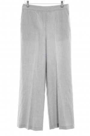 Zara Basic Bundfaltenhose hellgrau meliert Business-Look