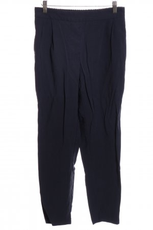 Zara Basic Pleated Trousers blue casual look