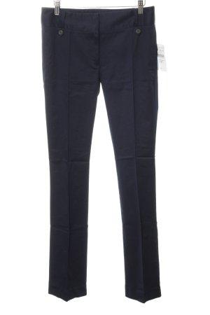 Zara Basic Bundfaltenhose dunkelblau Business-Look