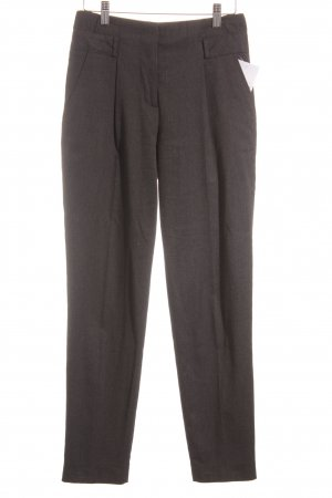 Zara Basic Bundfaltenhose dunkelgrau Business-Look