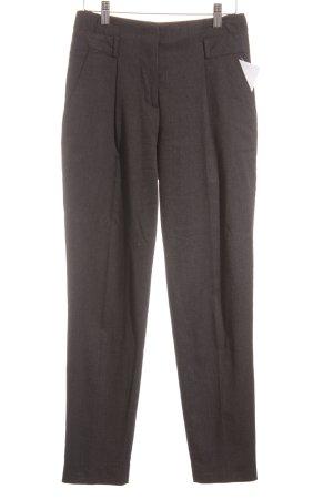 Zara Basic Pantalón de pinza gris oscuro estilo «business»