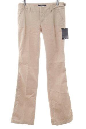 Zara Basic Pantalon à pinces crème style décontracté