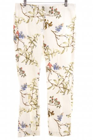 Zara Basic Pleated Trousers floral pattern casual look