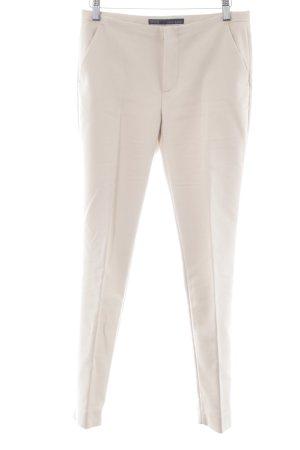 Zara Basic Bundfaltenhose hellbeige Business-Look