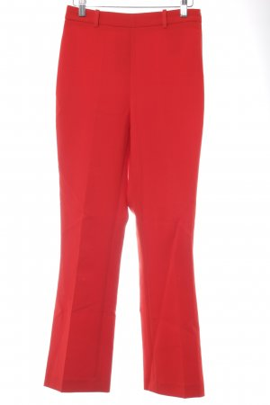 Zara Basic Bundfaltenhose rot Business-Look