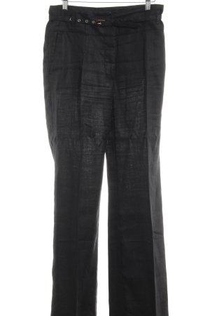 Zara Basic Bundfaltenhose schwarz Business-Look