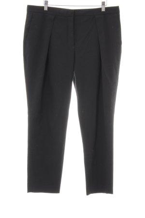 Zara Basic Bandplooibroek zwart zakelijke stijl