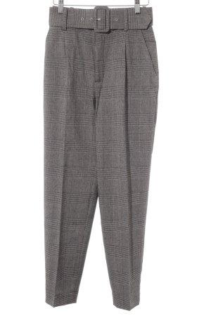 Zara Basic Pantalon à pinces argenté-noir motif à carreaux style d'affaires