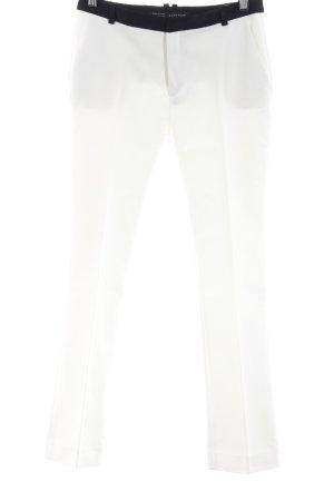 Zara Basic Pantalon à pinces blanc-noir style d'affaires